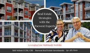 Leveraging your multi-family portfolio is an important part of planning for your future. Trust an expert and call Bob Nelson at Pacwest Real Estate Investments for advice about how to increase returns on your investments! 541-485-8100.