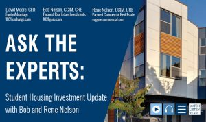 Student Housing Investment Update with Bob and Rene Nelson