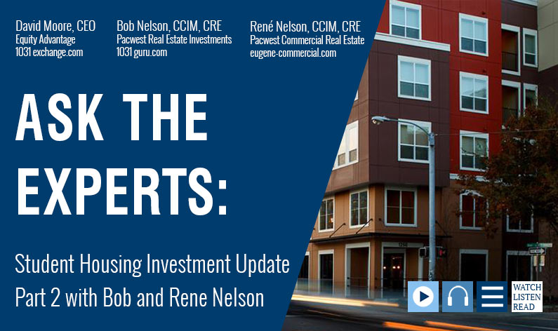 Student Housing Investment Update Part 2 with Bob and Rene Nelson